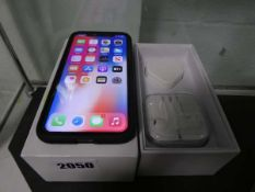 Apple iPhone X Model A1901 (unlocked) with case and box Screen and back appears to be ok, no cracks.