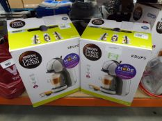 3131 - 2 boxed Nescafe Dolce Gusto coffee machines Little use, no visible damage