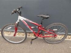 Red and silver Apollo gents mountain bike