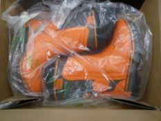 Box of Husqvarna chainsaw boots