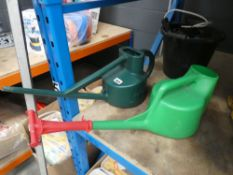 4064 - 2 watering cans and a bucket