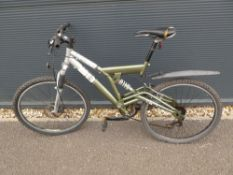 Green and silver gents mountain bike