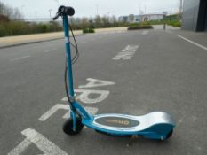 Razor green electric scooter with charger