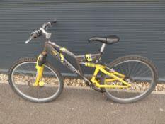 Yellow and grey gents mountain bike