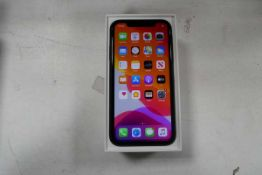 Apple iPhone 11 64gb in black model A2221 with box