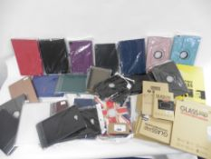 Large Bag of assorted tablet/ipad cases, screen protectors etc