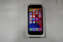 Apple iPhone SE in black 64gb model A2296 2020 edition with box