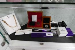 Selection of costume jewellery items, Zippo lighter and other jewellery items to include