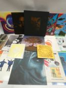 Box containing quantity of LP and 45 records from Nirvana, Linkin Park, Blink 182 and others