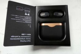 Sony WF-1000XM3 wireless noise cancelling earbuds with charging case and box