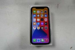 Apple iPhone 11 in black 128gb model A2221 with box
