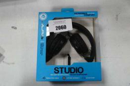 JLab Studio on ear headphones with box