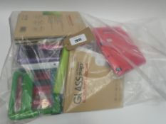 Bag containing quantity of tablet cases and covers