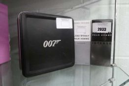 Issey Miyake perfumes in sealed boxes together with a 007 themed perfume gift set