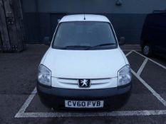 CV60 FVB Peugeot Partner 600 Professional HDI Van,in white, first registered 28/09/2010, MOT 21/10/