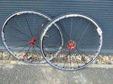 2 Ksyrium bike wheels and tyres