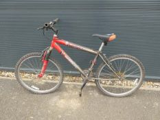An Emmelle Impact grey/red gents mountain bike