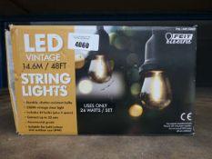 Box of LED vintage string lights