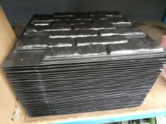 Box of artificial brick tiles and brick molds