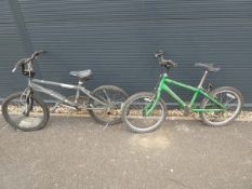 Two children's bikes comprising a Raleigh Max and a Mongoose Pro