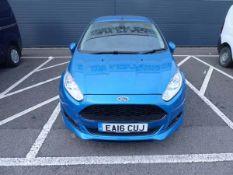 EA16 CUJ Ford Fiesta 1.5 TDCI Sport van, 69,206 miles, MOT expired 12.11.20