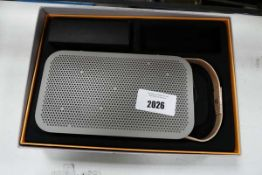 2590 - Bang & Olufsen A2 portable bluetooth speaker with box