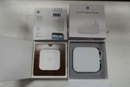 Square chip and pin contactless reader with dock