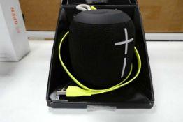 Ultimate Ears Wonderboom portable bluetooth speaker with box