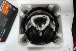 Pair of Rig Plantronic 400 Pro gaming headphones with box