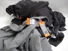 Bag containing ladies clothing to include leggings, lounge wear, sweatshirt top by Kirkland sizes
