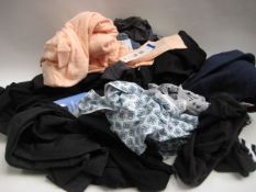 Bag containing ladies clothing to include jeans, lounge wear, weatherproof tops, leggings etc,