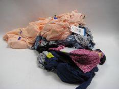 Bag of ladies clothing to include tops, loungewear, leggings, etc