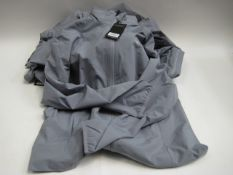Bag containing six grey Calloway lightweight jackets, various sizes