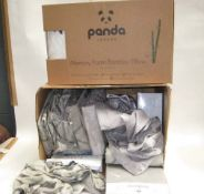 Box of various bedding by Saunderson etc together with a Panda Memory Foam bamboo pillow
