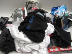 Bag containing ladies and gents underwear to include long johns, tshirts, bras, pants etc by