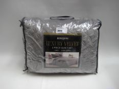 Bagged 3 piece quilt set by Berkshire Life in silver/grey, kingsize