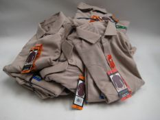 Bag containing 20 gents super soft comfort shirts in dark beige, various sizes