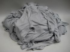Bag containing 18 Under Armour light weight part zipped jackets in light grey, sizes mostly XL