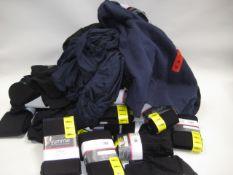 Bag containing ladies clothing to include Yummie tights, leggings, a Fila sweatshirt etc