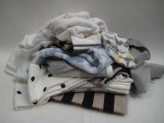 Bag containing various hand towels, tea towels, etc