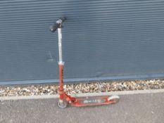 Orange 2 wheel micro scooter