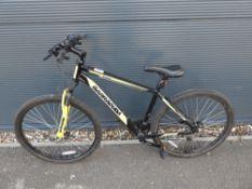 Yellow and black Barracuda gents bike