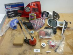 Rod End, wing mirrors, light casing, Engine maintenance kit, bike shock absorbers and car parts