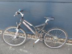 Ammaco grey suspension mountain bike