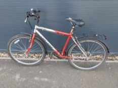 Challenge red and silver gents bike