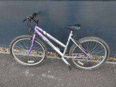 Optima Storm silver and purple ladies mountain bike