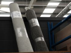 2 rolls of grey matting size 2150mm x 1500mm and 1500mm x 1200mm