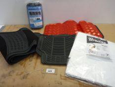 Car seat covers, car mats and tarpaulin