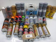 Selection of wood, metal & stove aerosol paints
