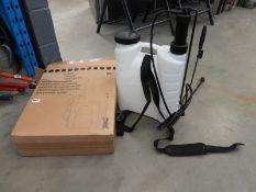 Boxed backpack sprayer